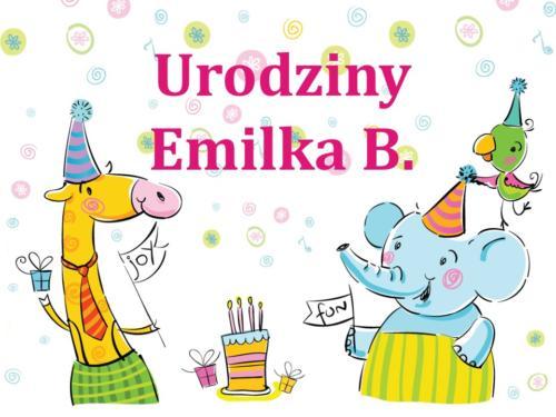 Urodziny - Emilka B.